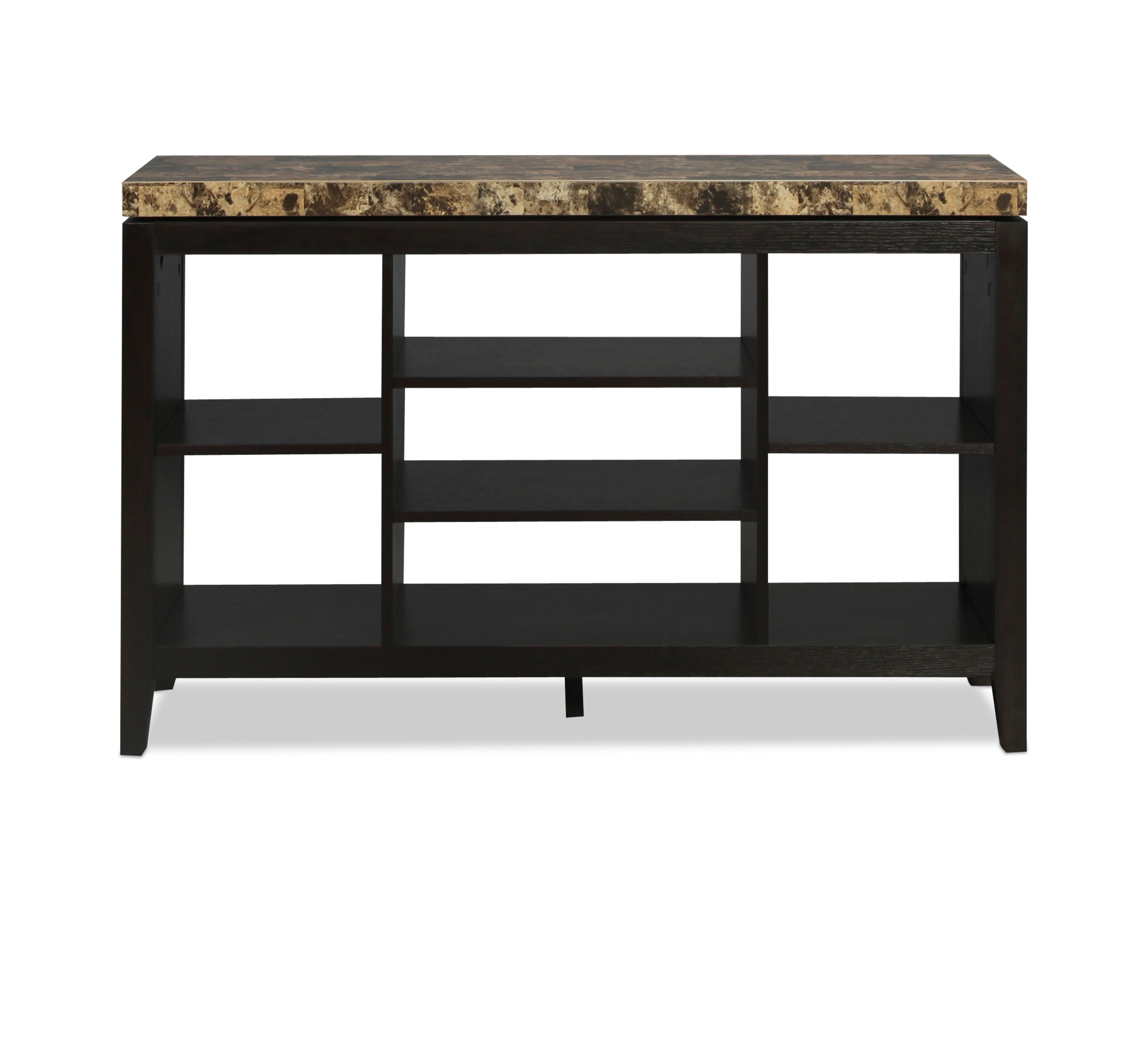 Callas TV Stand - Merlot with Faux Stone Top