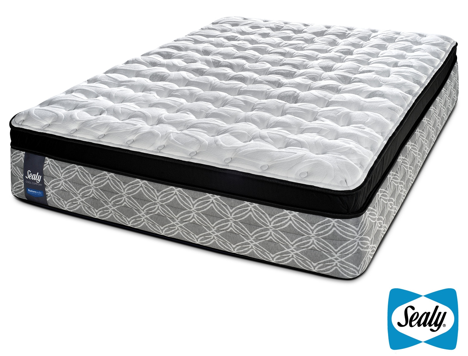 Sealy Sundown Plush Queen Mattress Leon 39 S