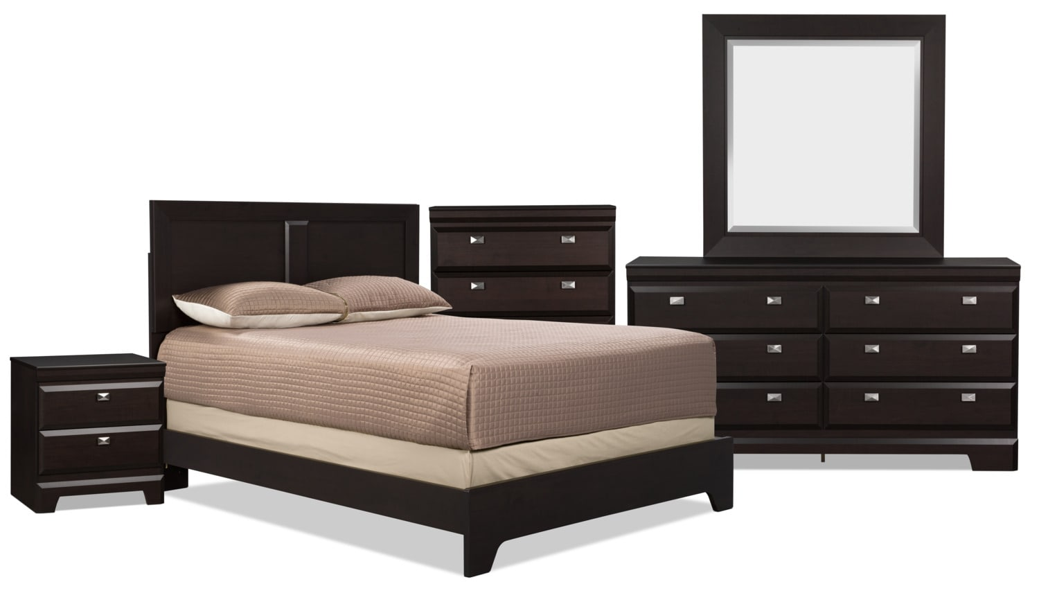 Yorkdale 7-Piece Queen Bedroom Package