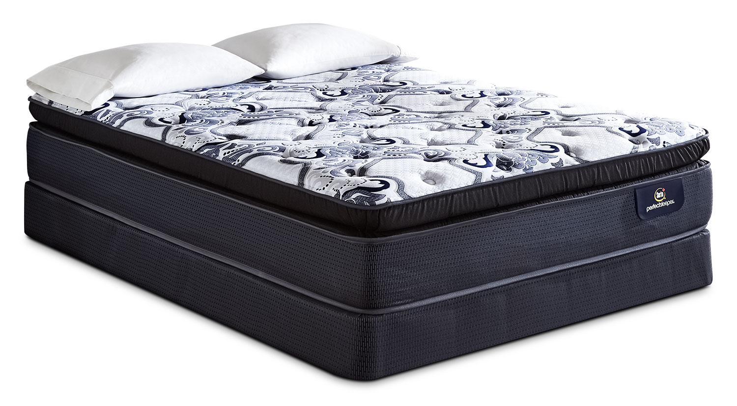 Serta Perfect Sleeper Indiana Super Pillow-Top Plush Queen Mattress Set