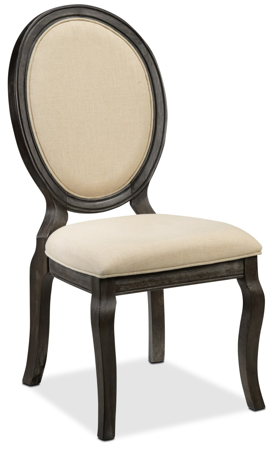 Victoria Side Chair - Grey and Beige