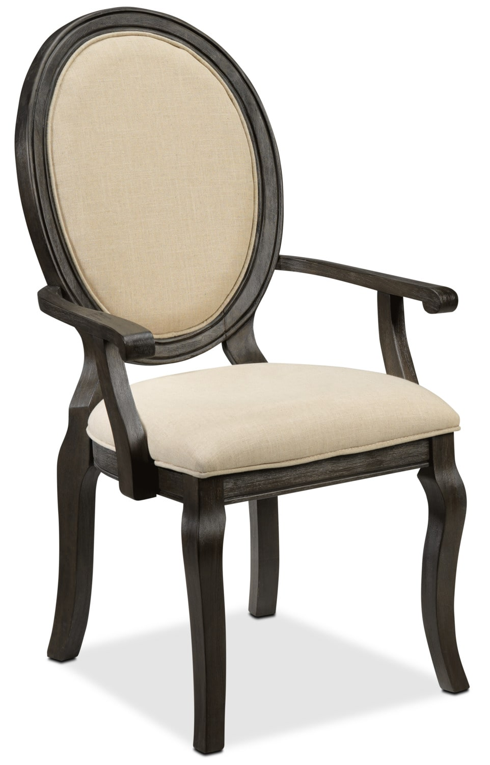 Dining Room Furniture - Victoria Arm Chair - Grey and Beige