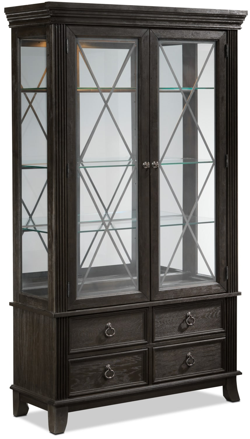 Victoria 2-Piece China Cabinet - Grey