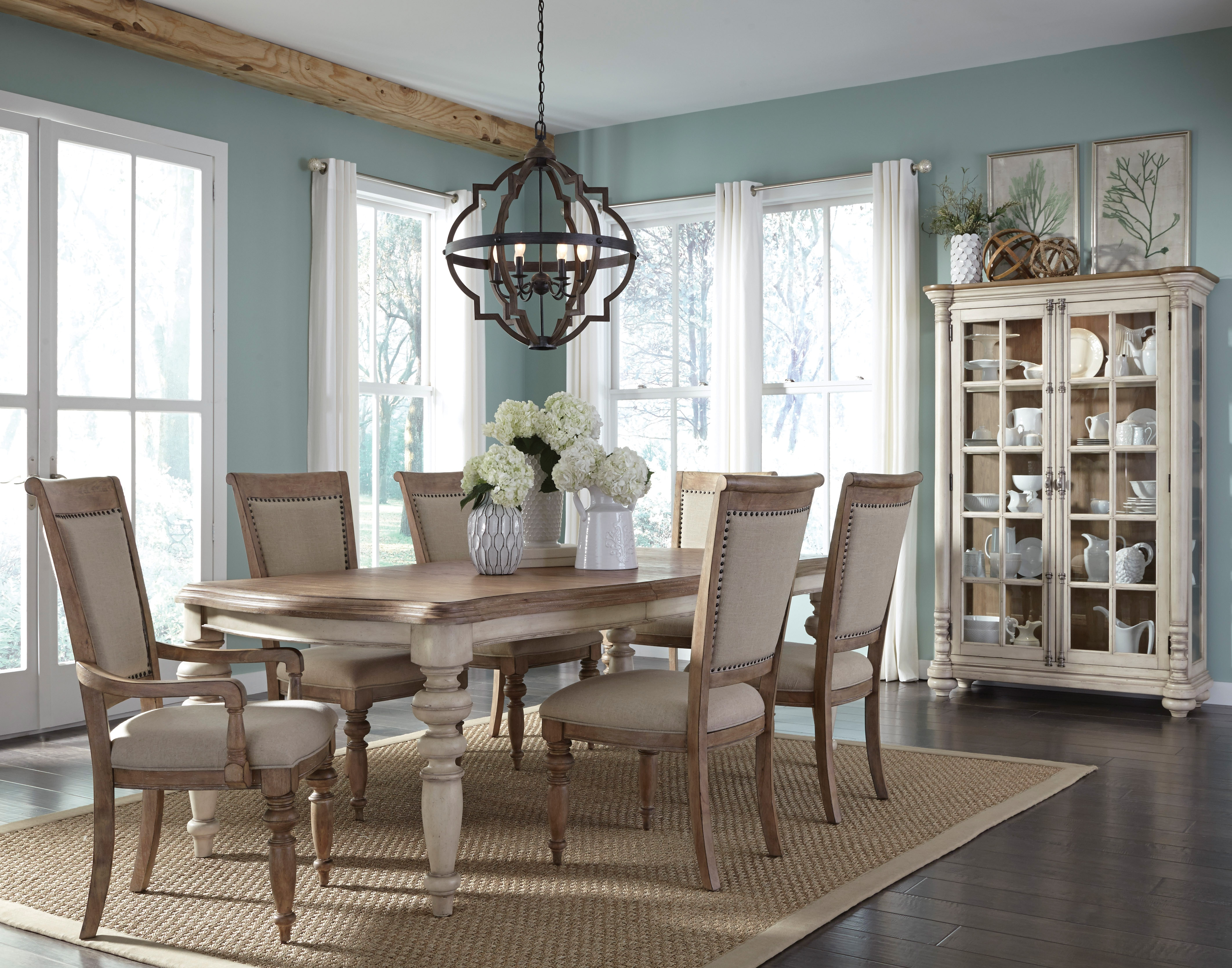 Willow Springs Table and 4 Side Chairs - Pecan