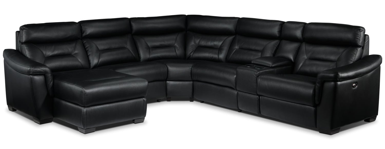 Wexler 6-Piece Sectional with Left-Facing Chaise - Black