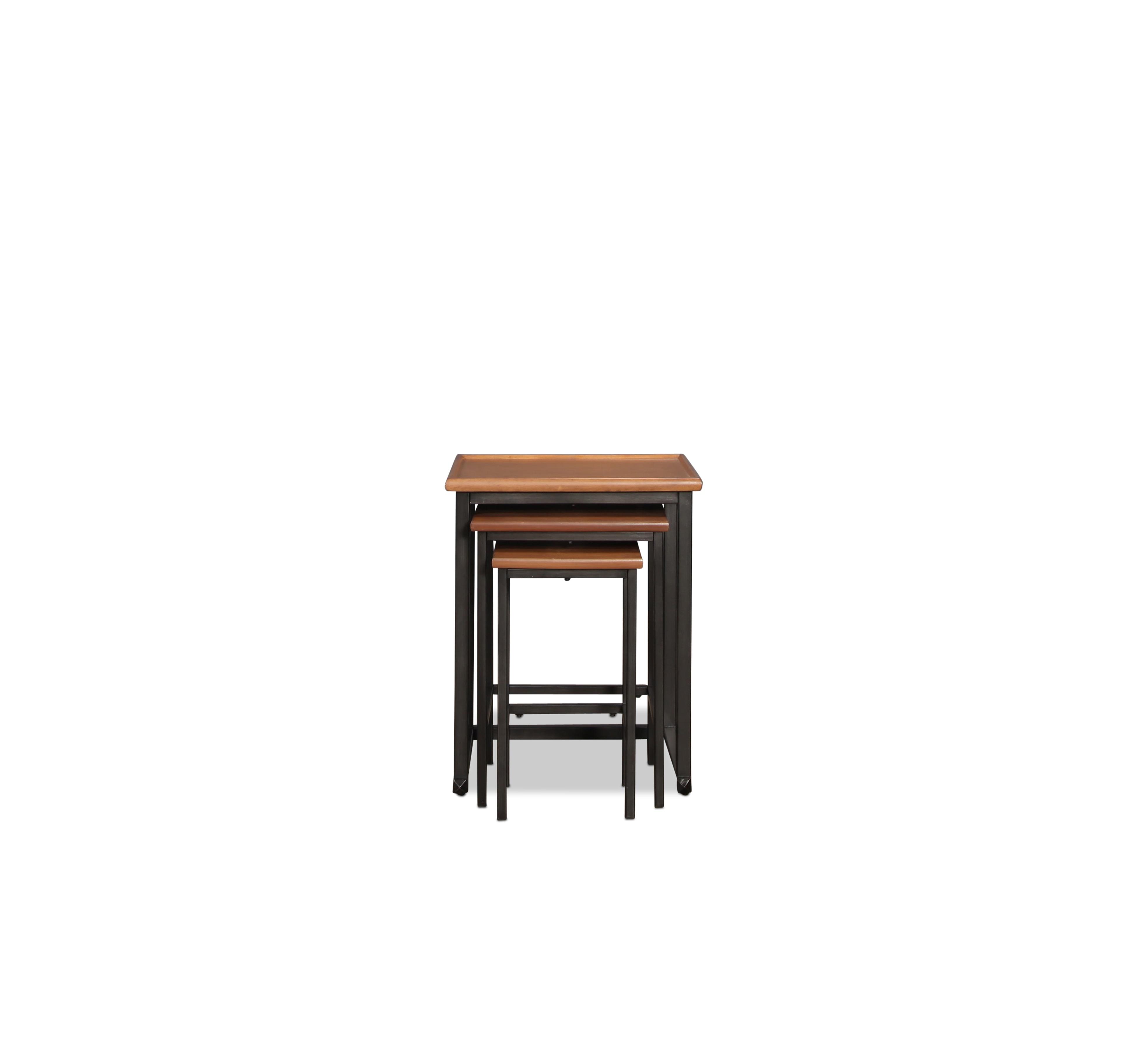 Barrow Nesting Tables - Medium Brown Pine