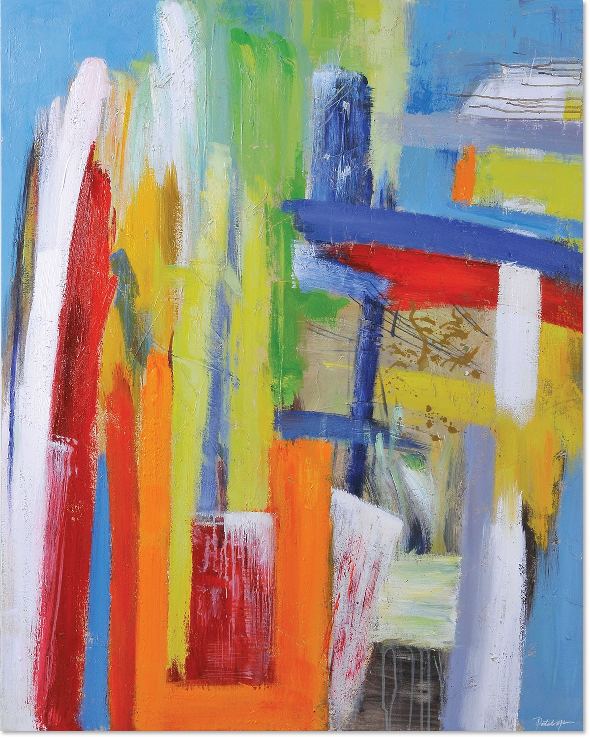 """Accent and Occasional Furniture - Color Play Canvas Art (48"""" X 36"""")"""