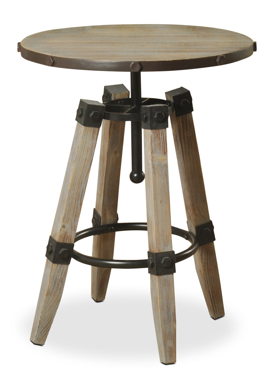 Hanley Accent Table – Driftwood Grey