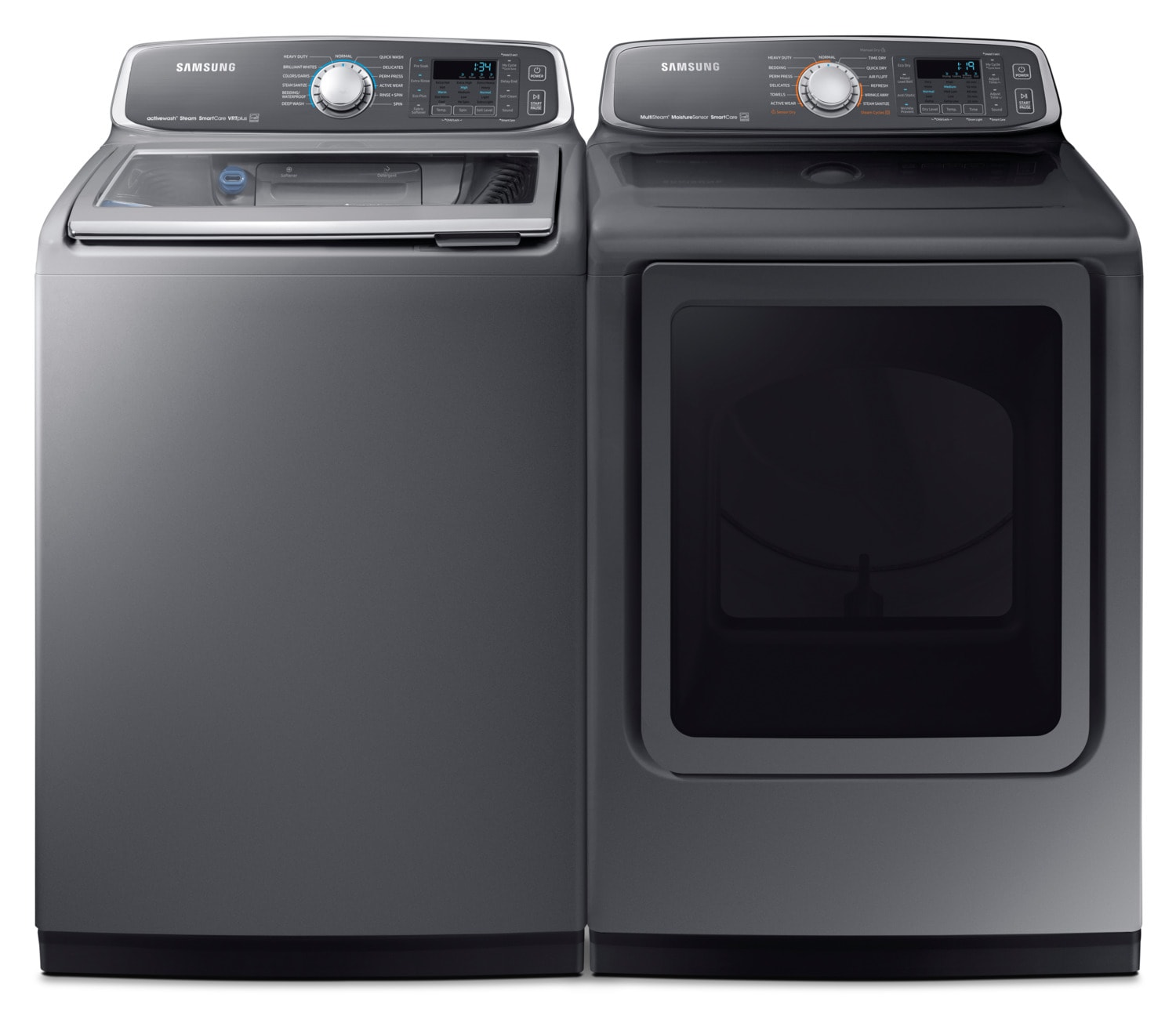 Washers and Dryers - Samsung 6.0 Cu. Ft. Top-Load Washer and 7.4 Cu. Ft. Electric Dryer