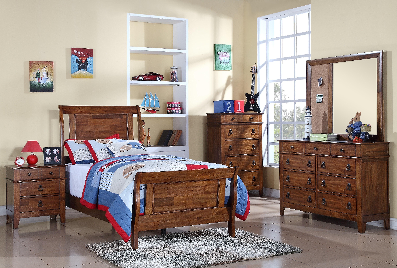Sutton Twin Bed, Dresser, Mirror and Nightstand