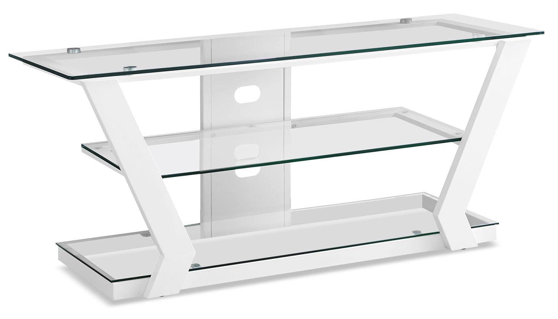"Entertainment Furniture - Abram 48"" TV Stand – White"
