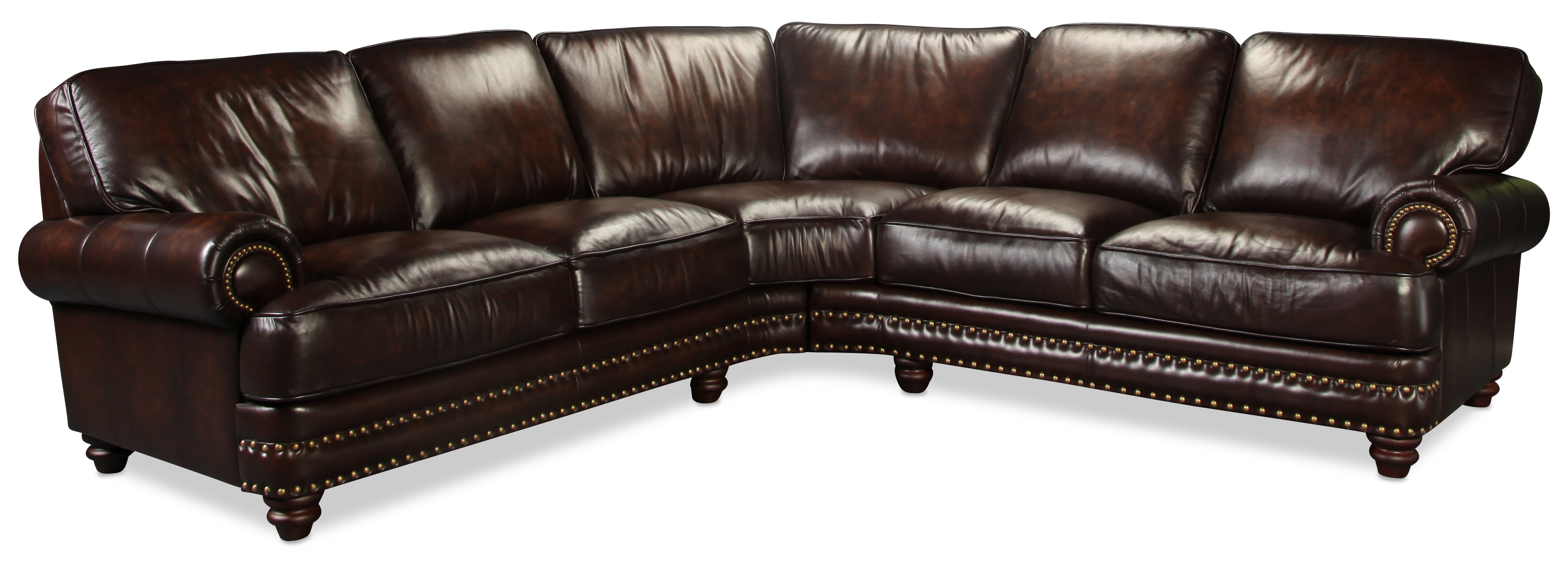 Maddox 2pc Leather Sectional