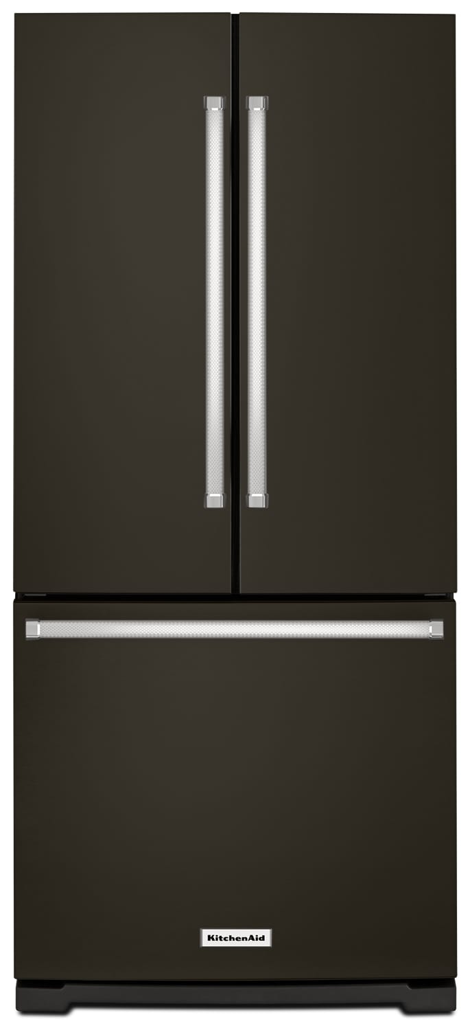 KitchenAid 20 Cu. Ft. French-Door Refrigerator with Interior Dispenser – KRFF300EBS