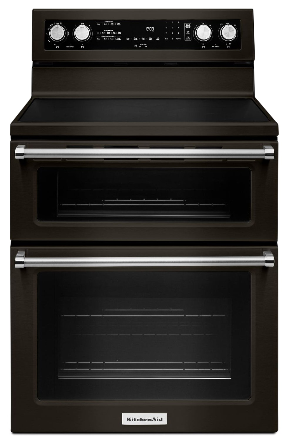 "KitchenAid 30"" Electric Double Oven Convection Range – YKFED500EBS"