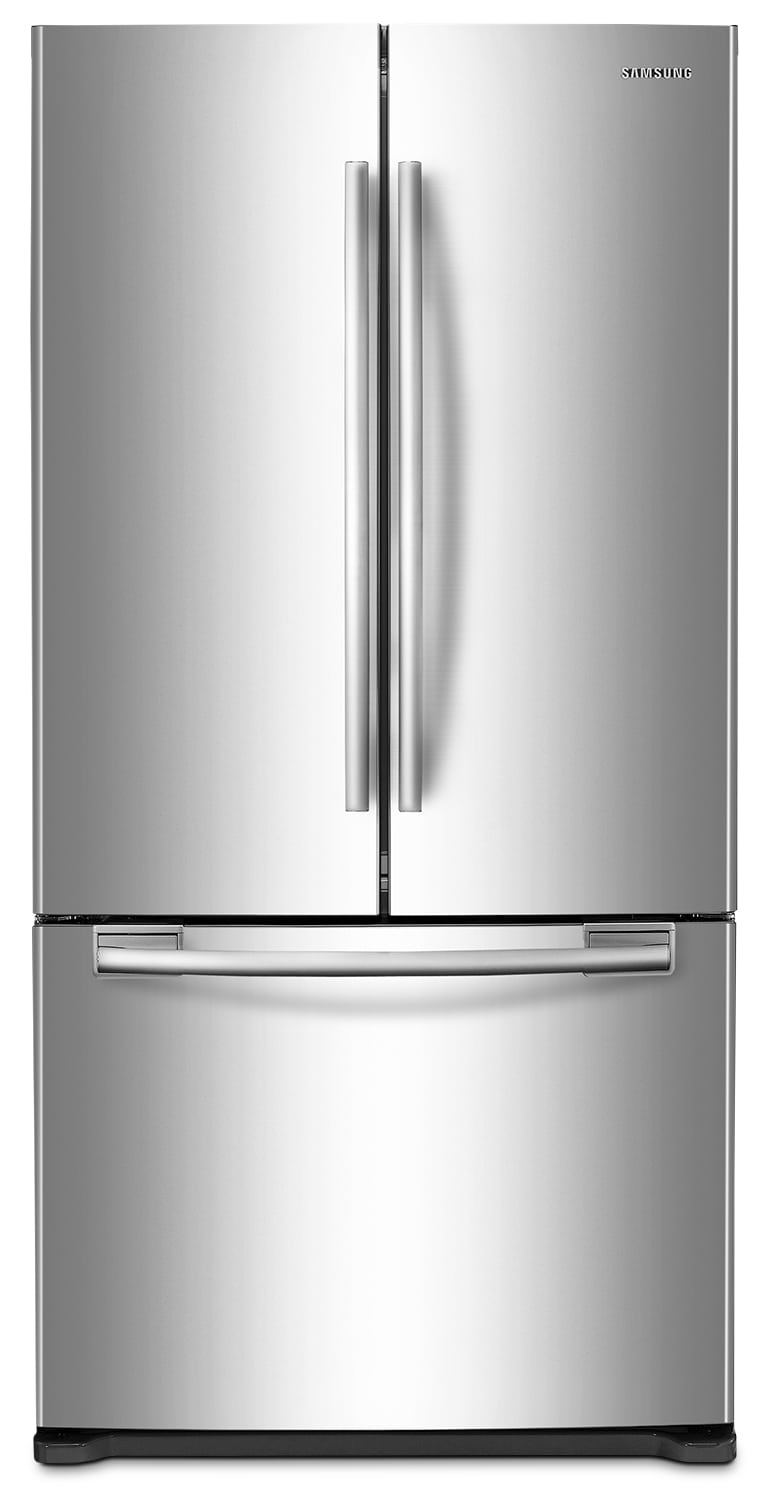 Samsung Stainless Steel Counter-Depth French Door Refrigerator (17.5 Cu. Ft.) - RF18HFENBSR