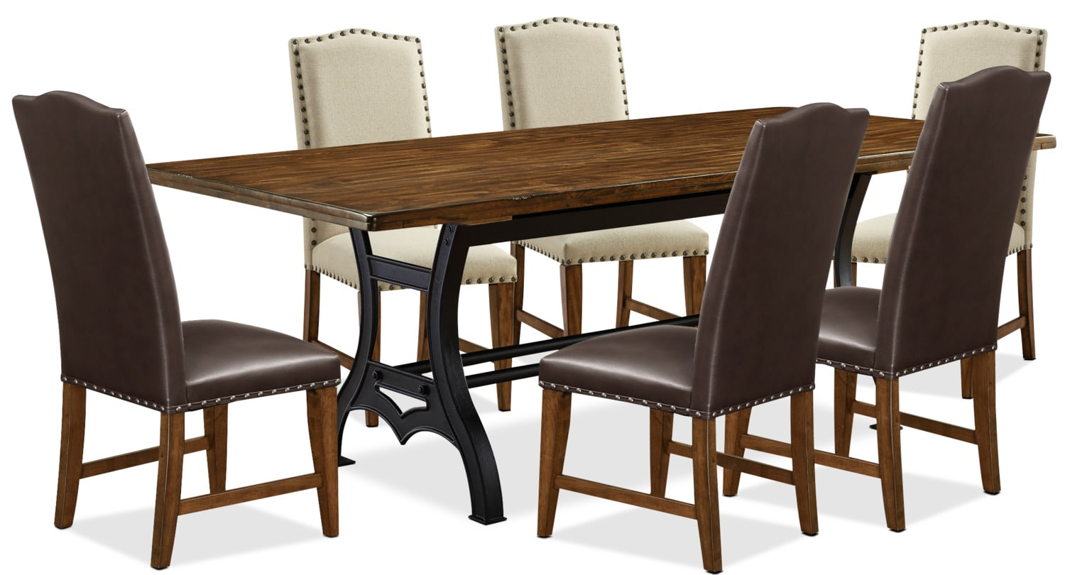 Dining Room Furniture - Alpine 7-Piece Dining Package – Assorted Colours