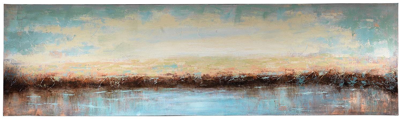 "Lazy Lake Canvas Wall Art (71"" X 20"")"