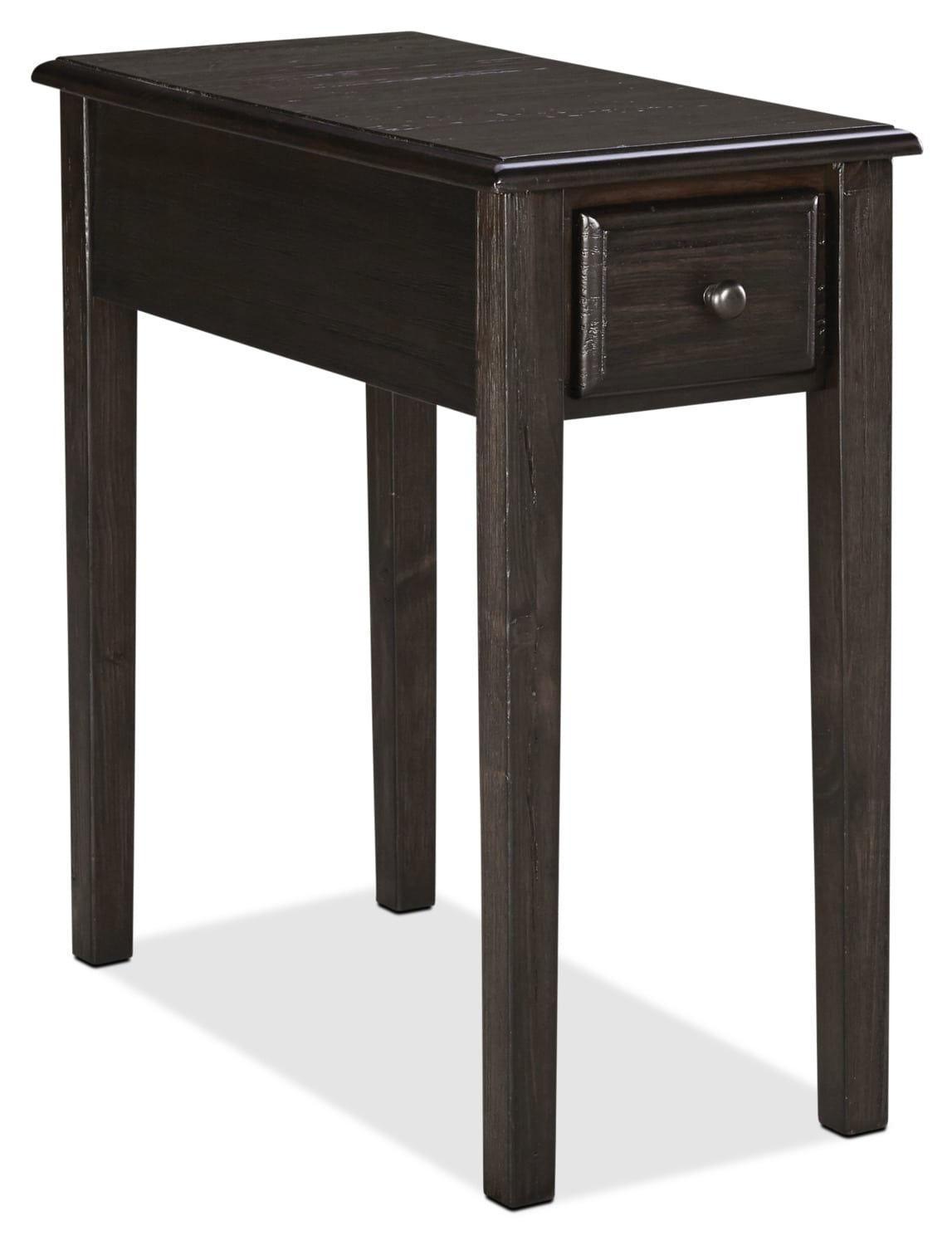 Weldon Solid Pine Accent Table – Dark Brown