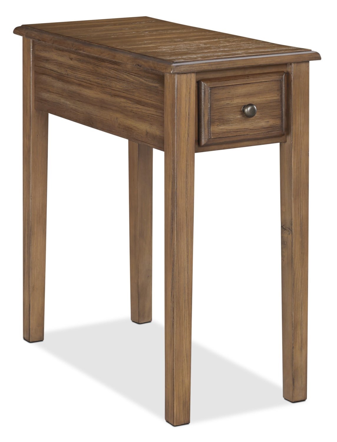 Weldon Solid Pine Accent Table – Warm Brown
