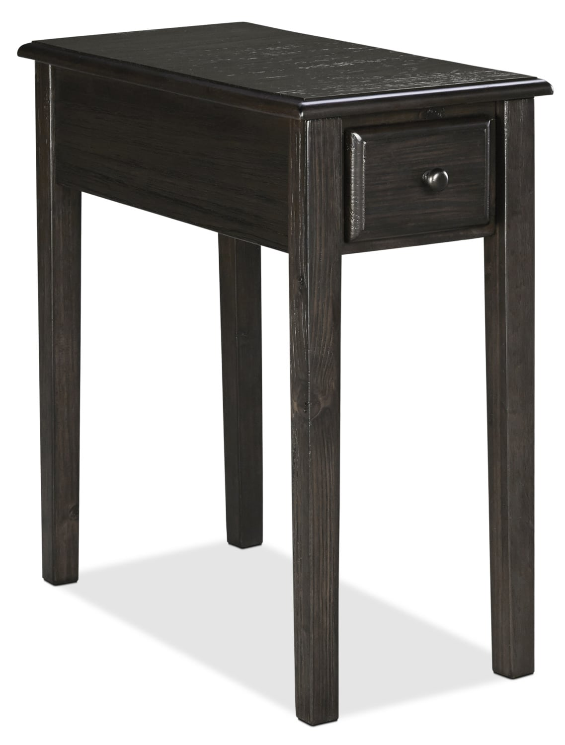 Table d'appoint Weldon en pin massif - gris-brun