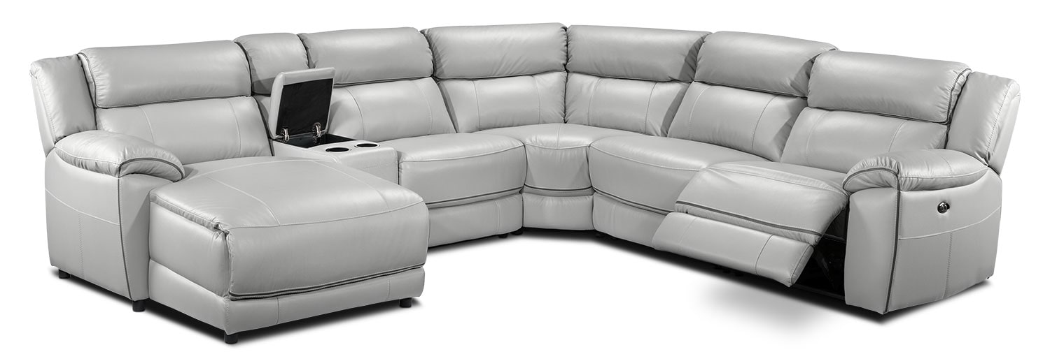 Holton 6-Piece Sectional with Left-Facing Chaise - Grey