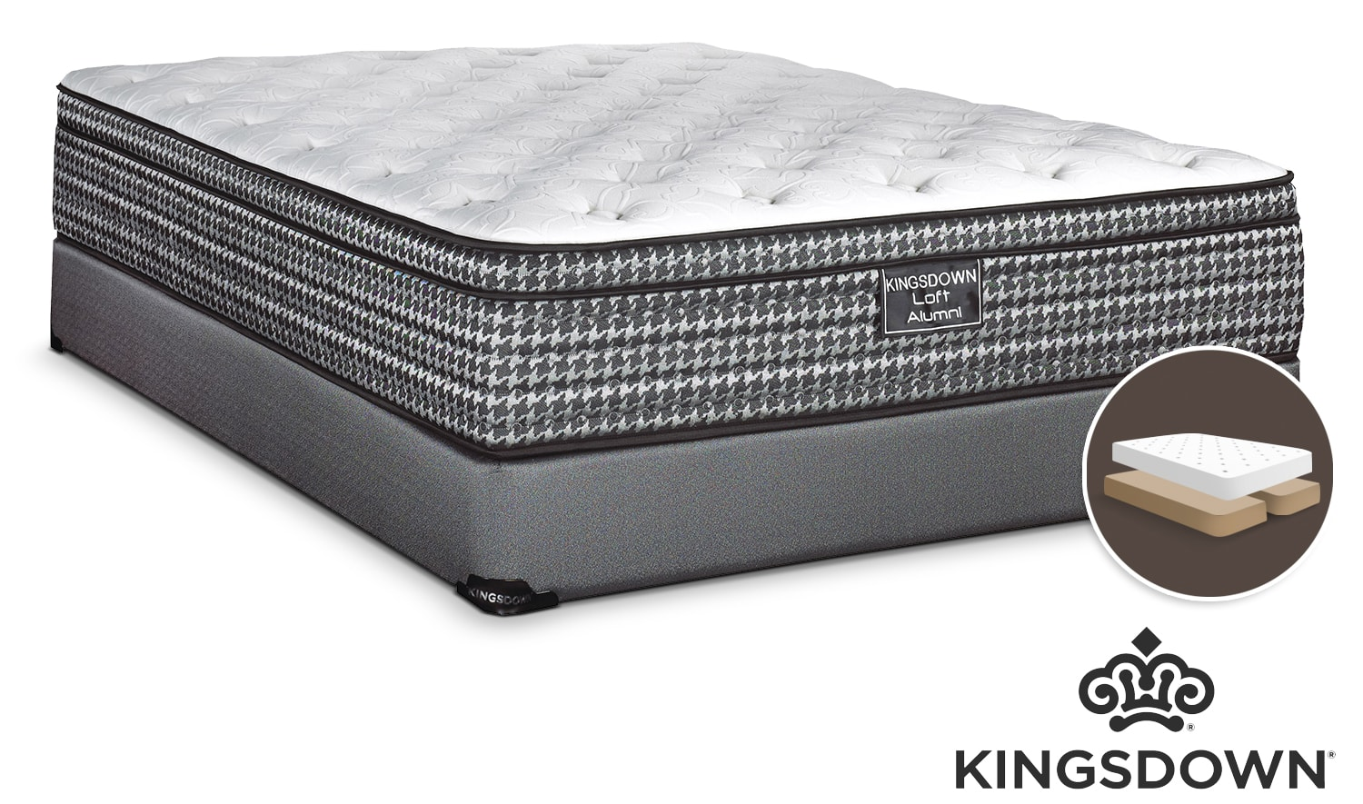 Kingsdown Alumni Firm Queen Mattress/Split Boxspring Set