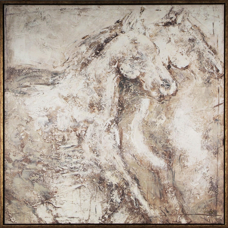"""Horses – 41"""" x 41"""""""