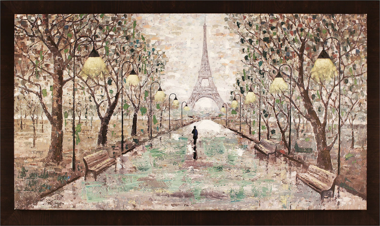 "Walk to Eiffel Tower – 59.5"" x 35.5"""