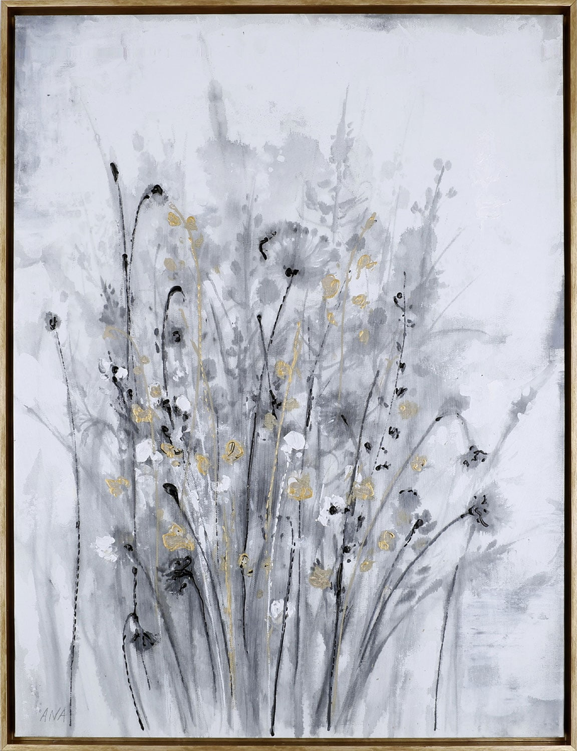 """Home Accessories - Golden Floral I – 31.5"""" x 41.5"""""""