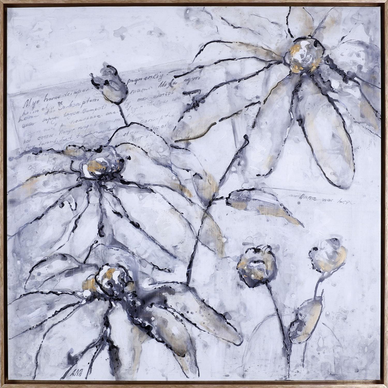 "Home Accessories - Elegant Flowers – 37.5"" x 37.5"""