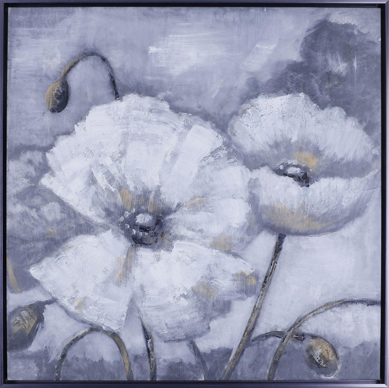 "White Floral I – 37.5"" x 37.5"""