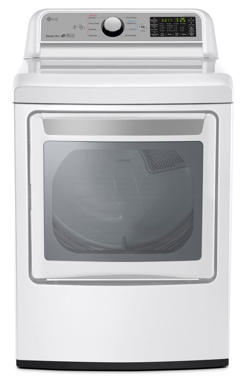 LG 7.3 Cu. Ft. Electric Dryer with TurboSteam™ – DLEX7200W