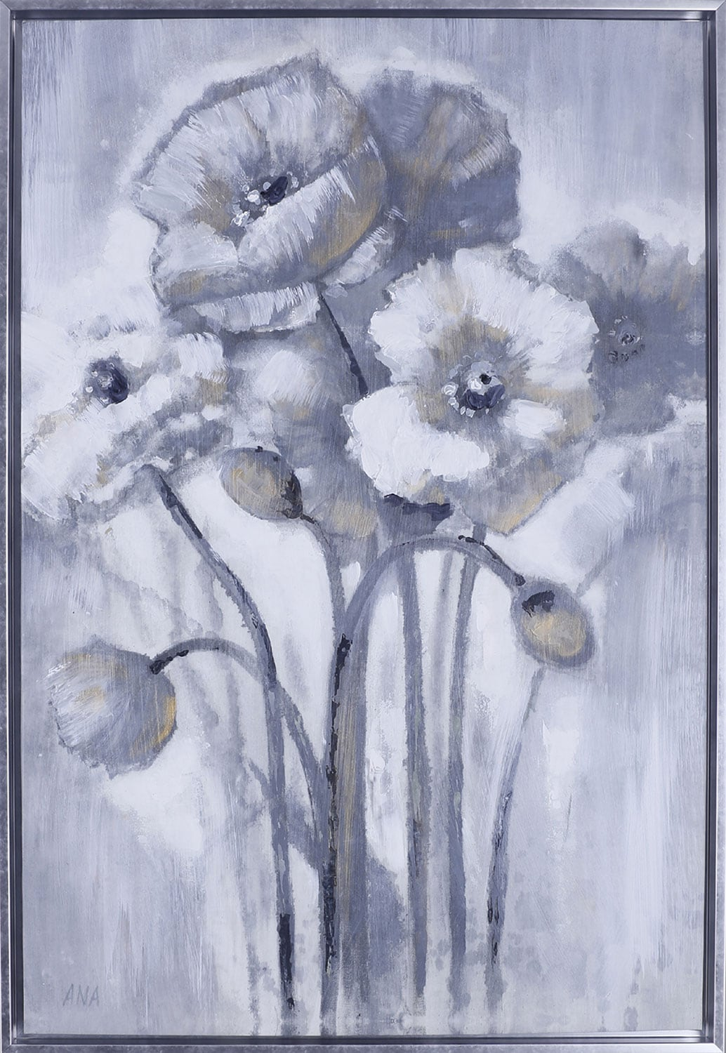 "Gold Floral II –26.5"" x 38.5"""