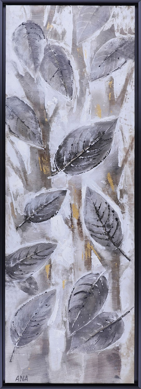 "Brown Leaves I – 18.5"" x 50.5"""