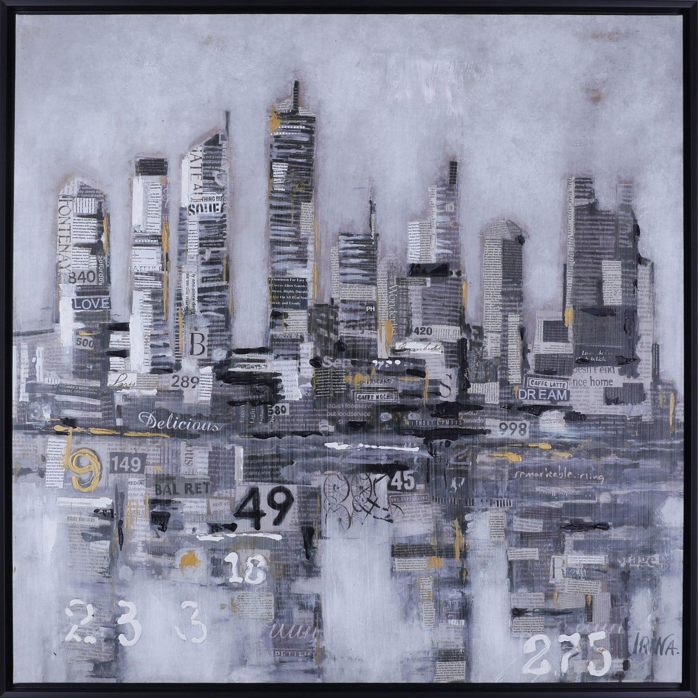 """City Words – 38.5"""" x 38.5"""""""