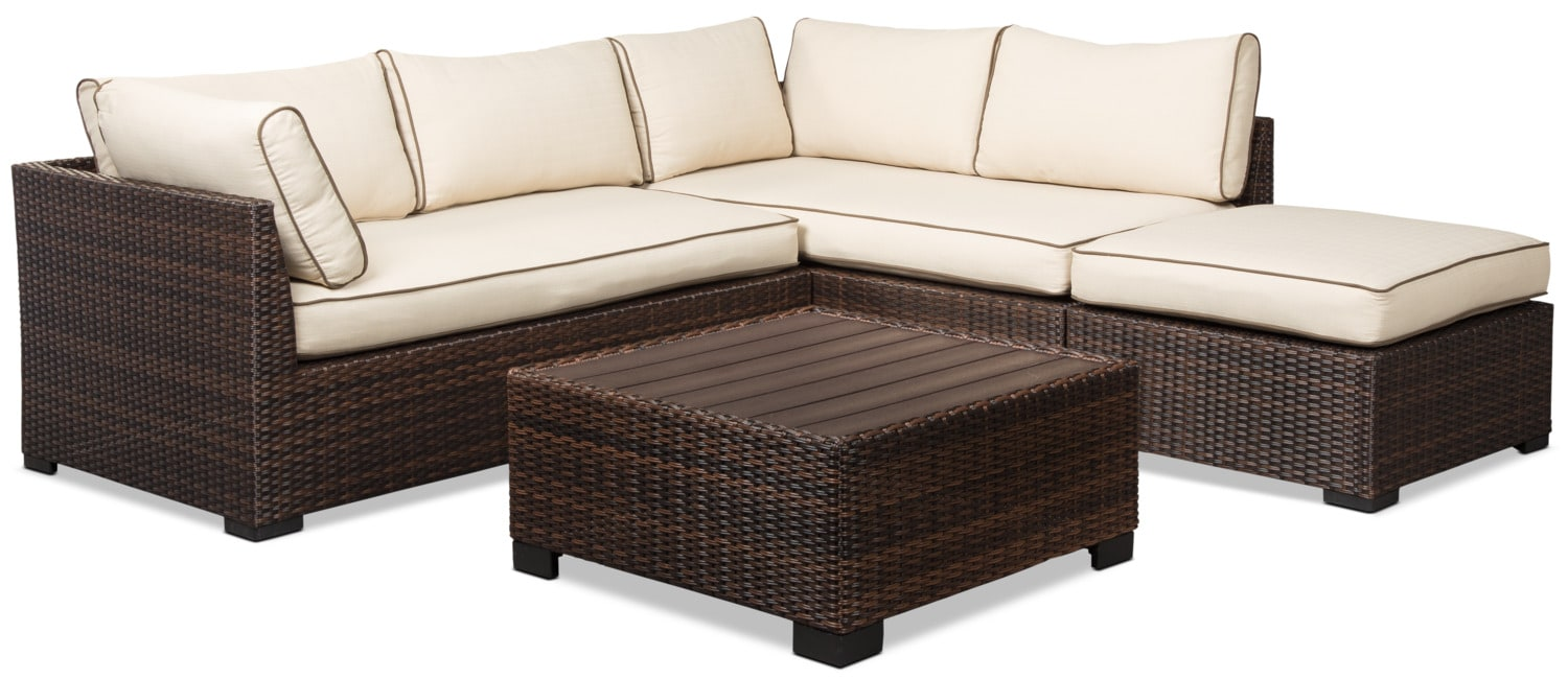 Loughran 4-Piece Patio Sectional Set