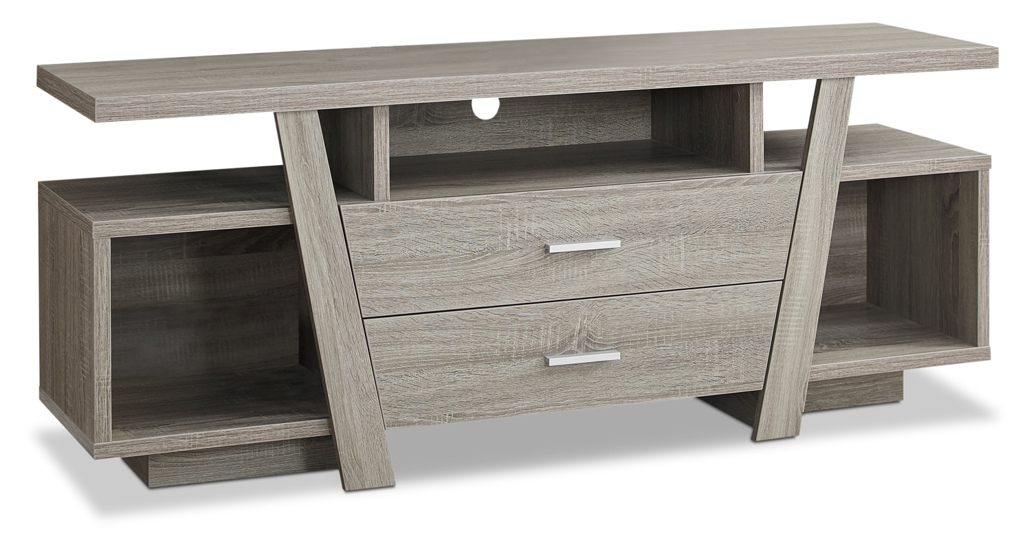 "Loris 60"" TV Stand – Dark Taupe"
