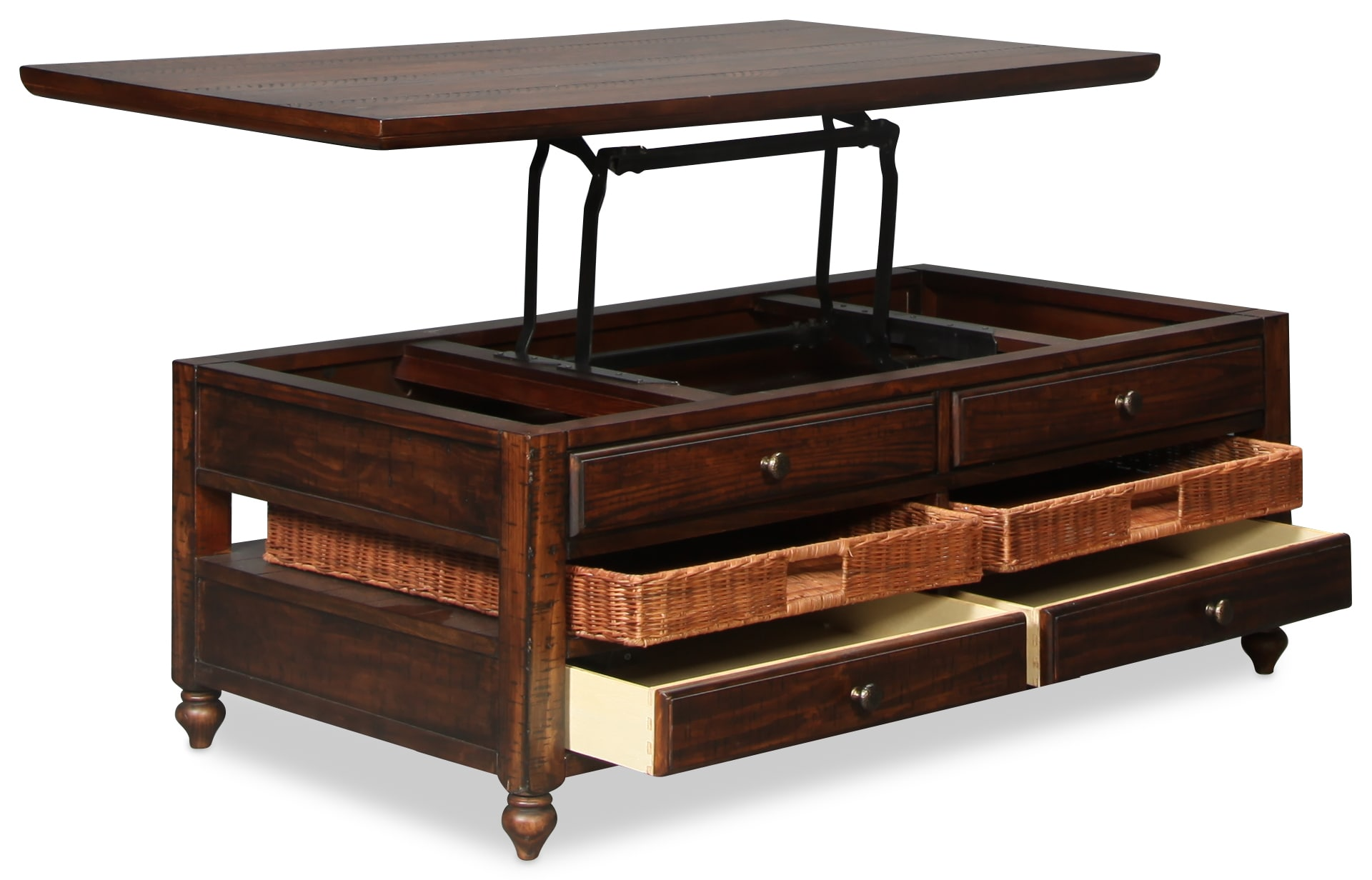 Cottage Lane Lift Top Coffee Table Cherry Levin Furniture