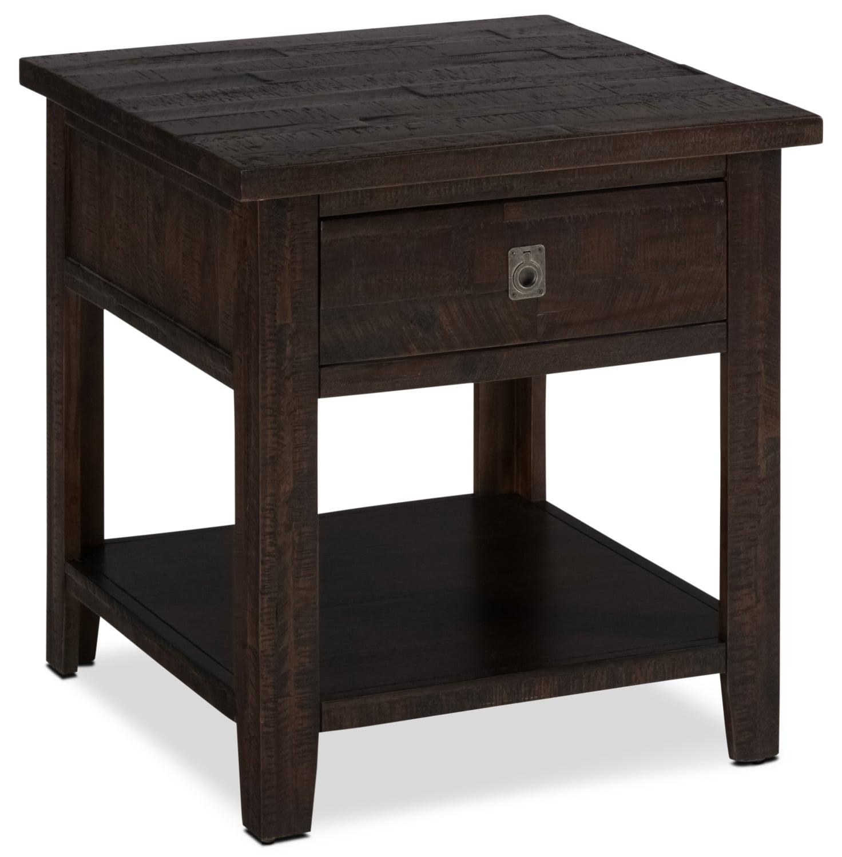 table de bout kona grove brick. Black Bedroom Furniture Sets. Home Design Ideas