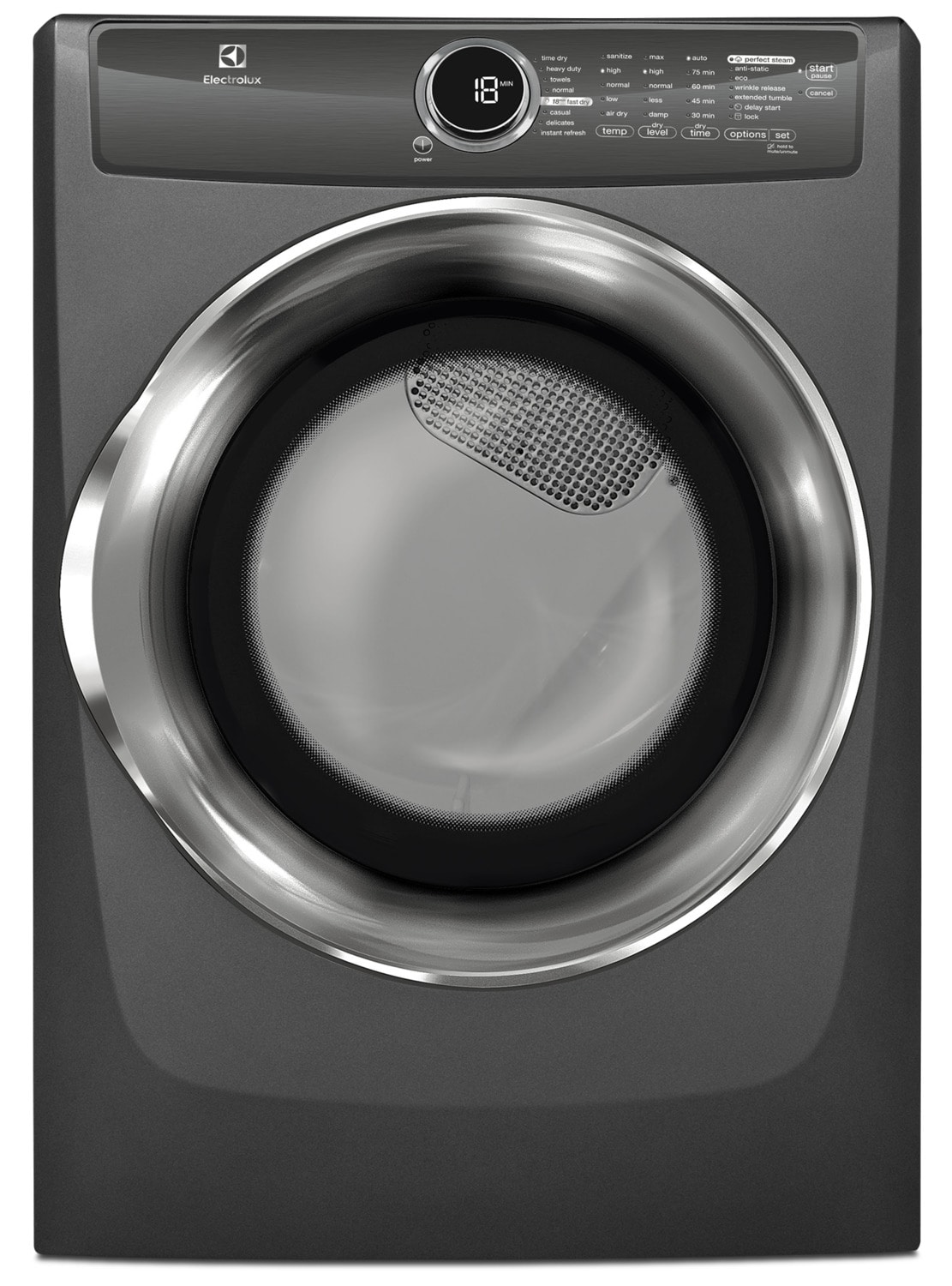 Washers and Dryers - Electrolux Titanium Electric Dryer (8.0 Cu. Ft) - EFMC517STT
