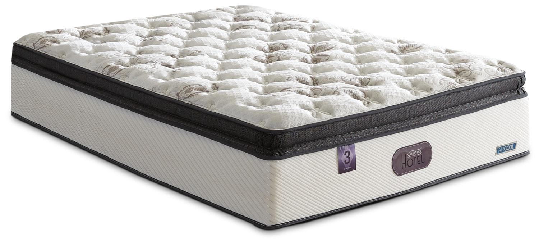 Matelas et sommiers - Matelas ferme à plateau coussin épais Hotel Diamond 3 Beautyrest pour très grand lit