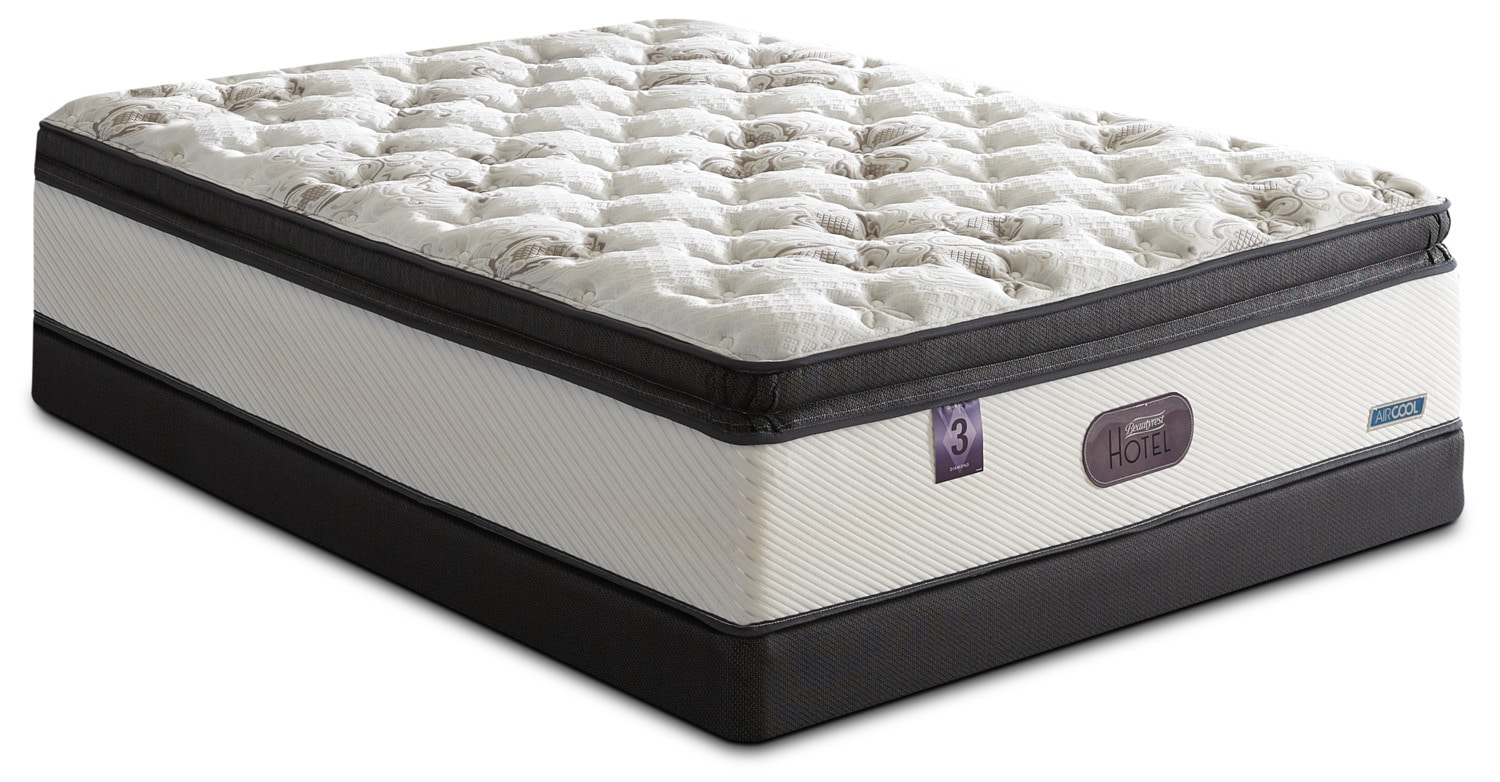 Mattresses and Bedding - Beautyrest® Hotel Diamond 3 Hi-Loft Pillow-Top Firm Split Queen Set