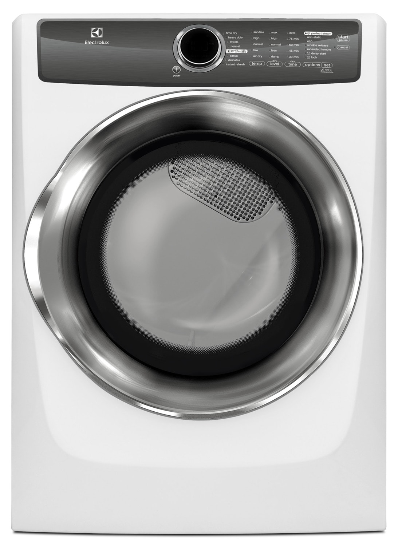 Electrolux White Gas Dryer (8.0 Cu. Ft) - EFMG517SIW