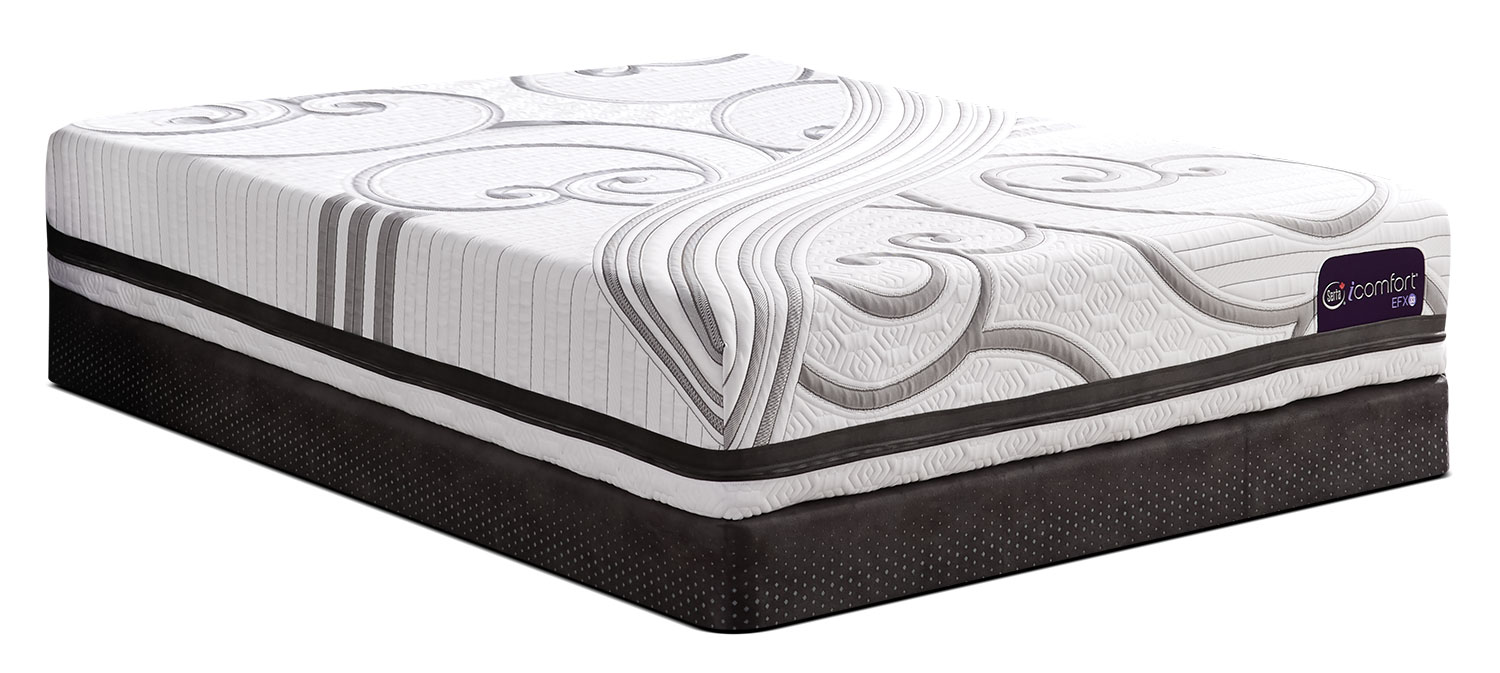 Mattresses and Bedding - Serta iComfort® Fascinating Tight-Top Low-Profile Split Queen Mattress Set