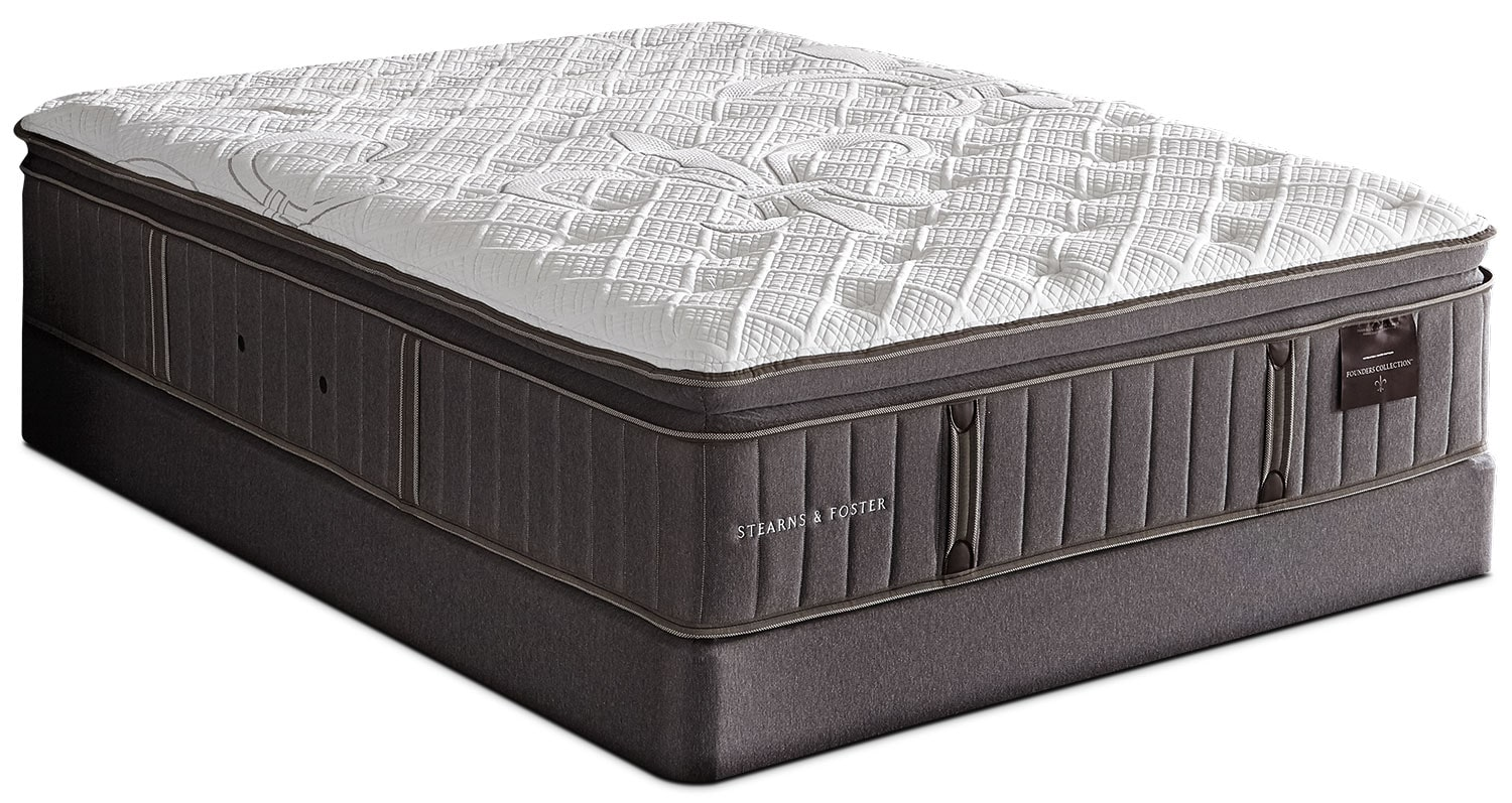 Stearns & Foster Albert Park Pillow -Top Firm Queen Mattress Set