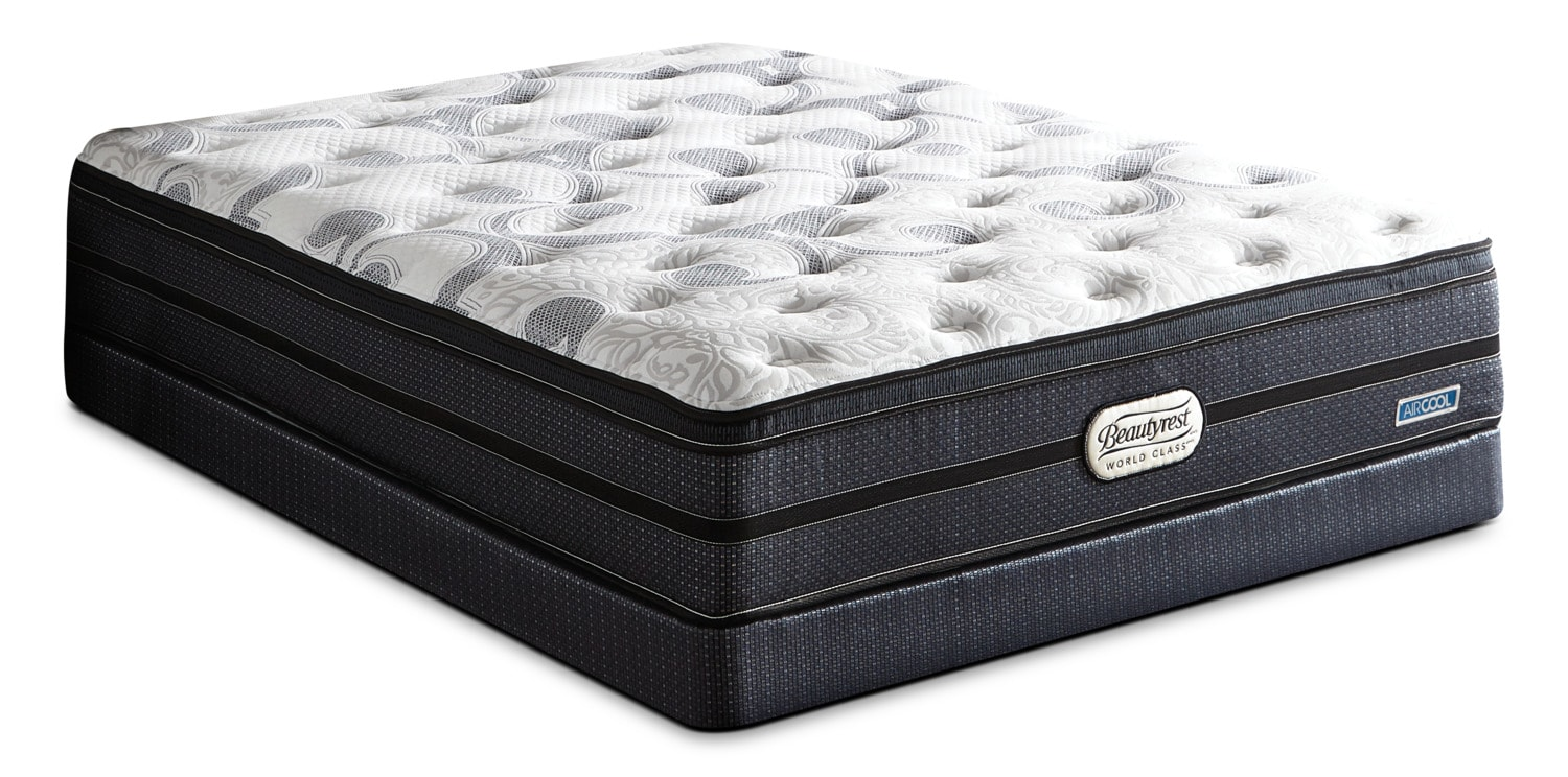 Beautyrest® World Class Zayne Euro-Top Firm Queen Mattress Set