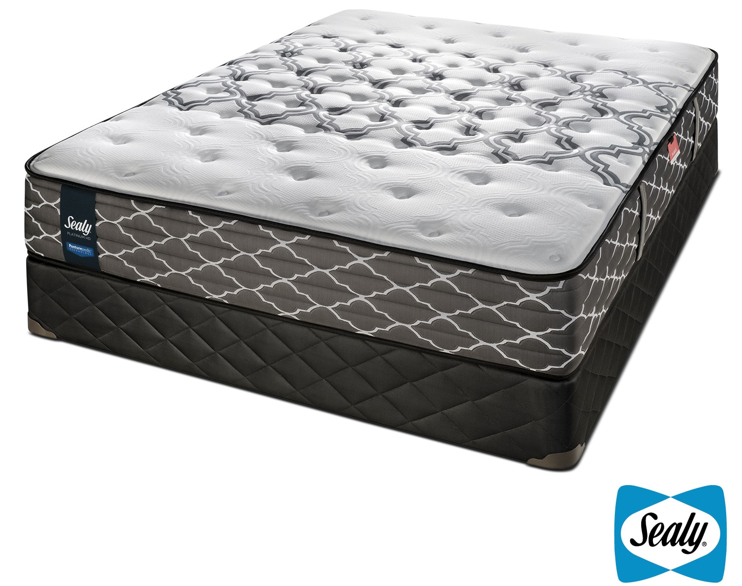 Sealy Late Night Hybrid Extra Firm Queen Mattress and Boxspring Set