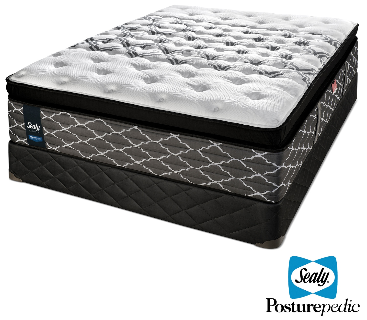 Mattresses and Bedding - Sealy Endless Night Hybrid Cushion Firm Queen Mattress and Boxspring Set