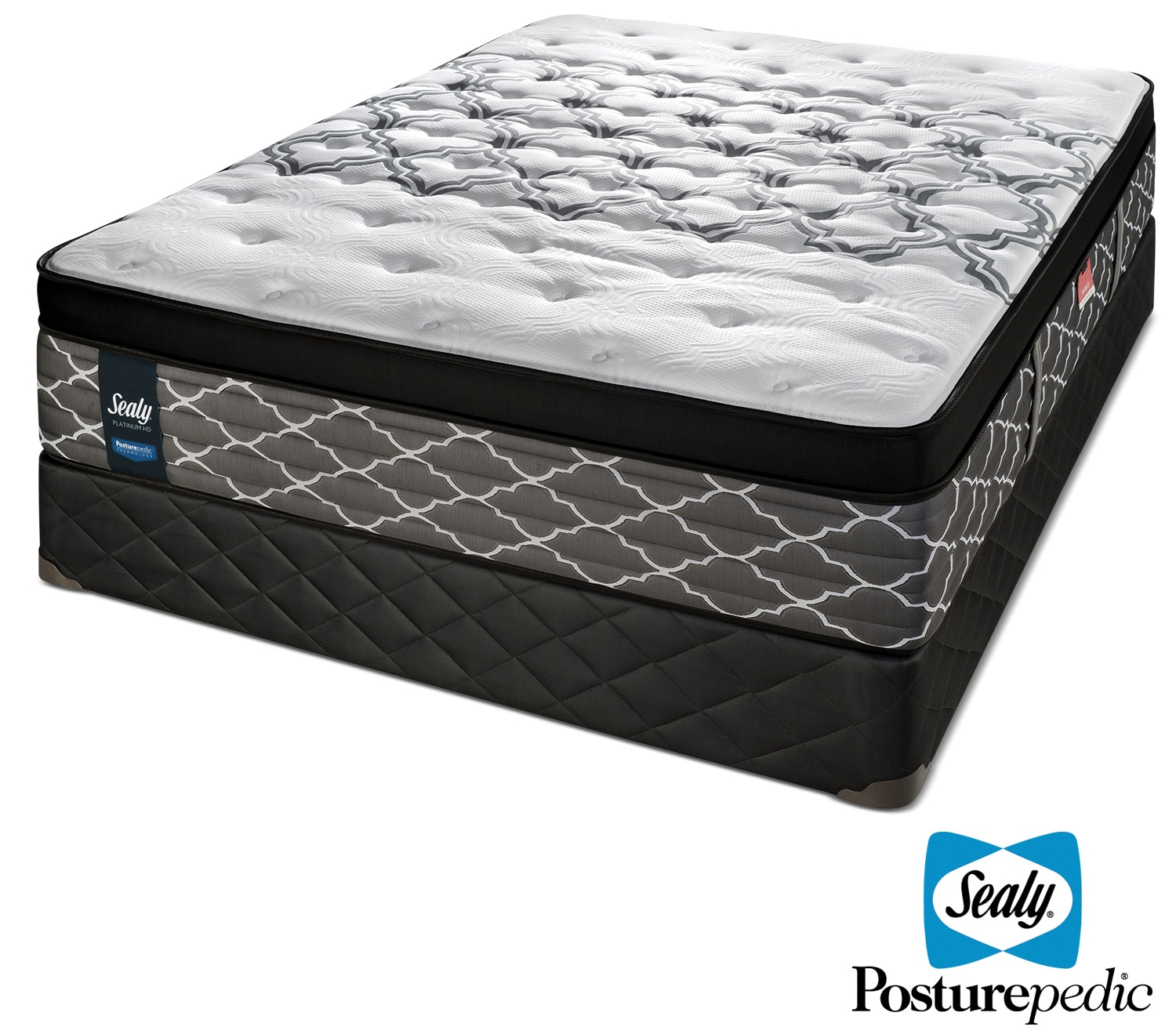 Mattresses and Bedding - Sealy Dreamy Night Hybrid Firm Queen Mattress and Boxspring Set