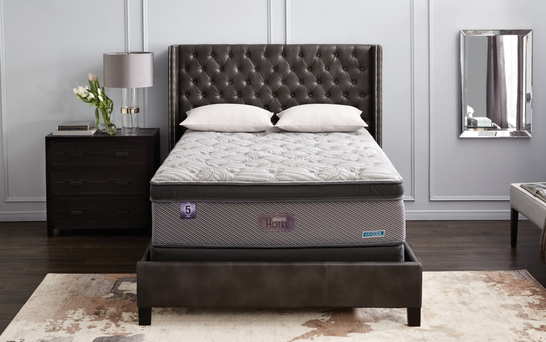 Ensemble matelas ferme dessus confort de luxe hotel diamond 5 beautyrest po - Matelas pour hotel de luxe ...